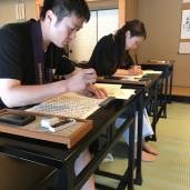 <日本文化部>写経体験にいってきました!
